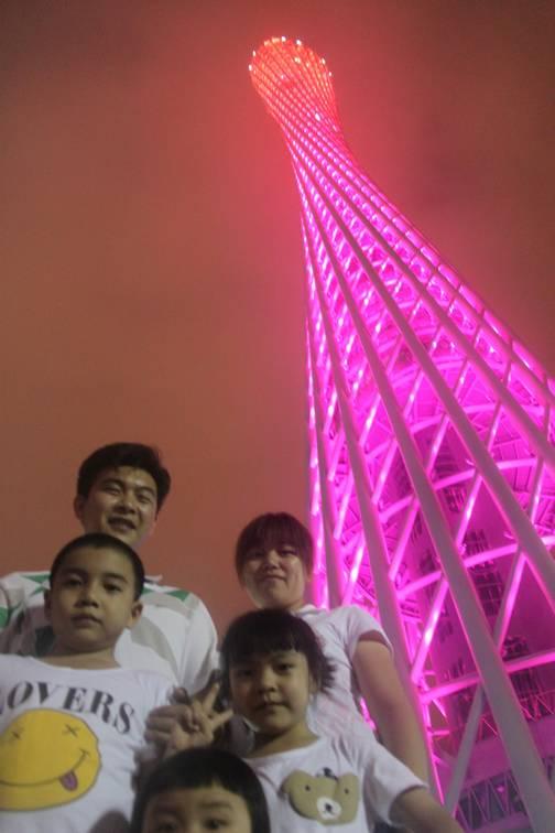 广州塔合影图片